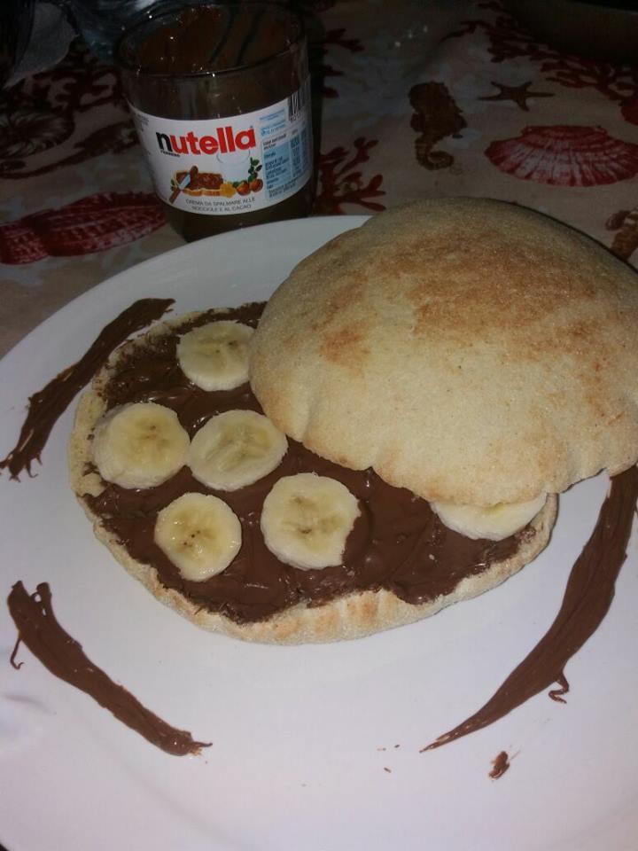 Spianata nutella e banana